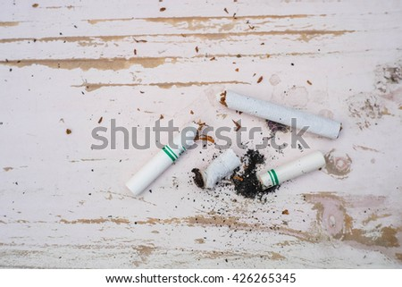 smoking crack - stock photo