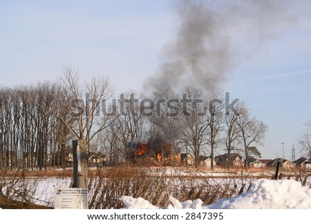 smoking house - stock photo