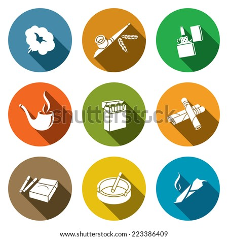 Smoking Icon set - stock photo