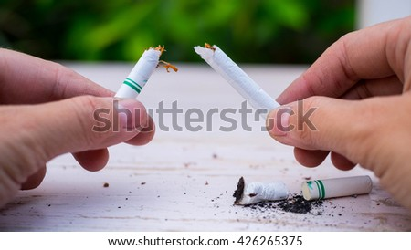 Smoking is dangerous - stock photo