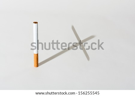 Smoking kills cigarette cross shaped shadow