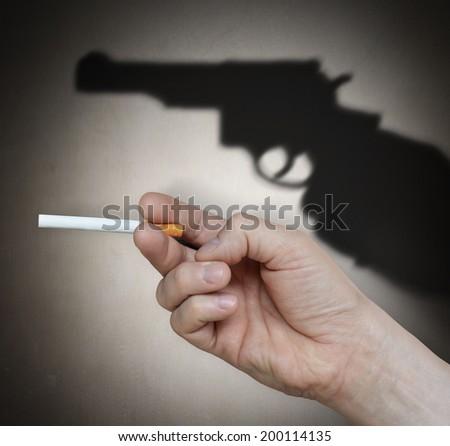 Smoking kills. Concept graphic.  - stock photo