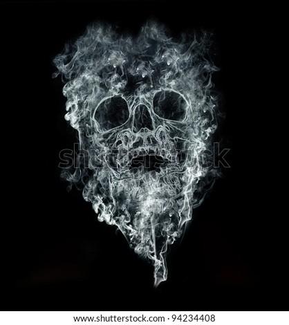 smoking kills on black background - stock photo