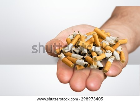 Smoking, smoke, stop. - stock photo