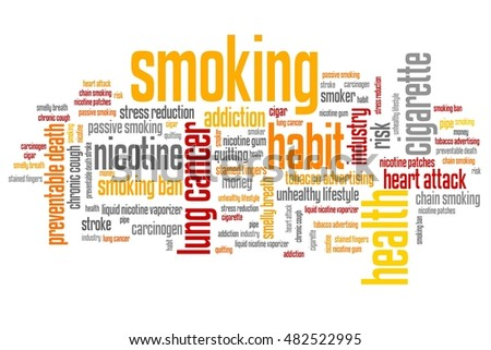 Smoking - word cloud