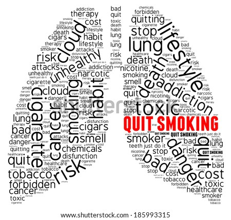 Smoking word cloud concept isolated - stock photo