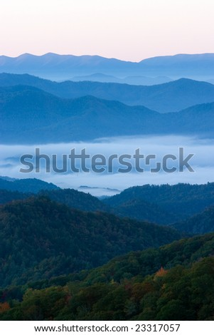 Smoky Mountains in the Fall - stock photo