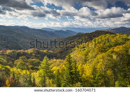 Smoky Mountains National Park in Tennessee, USA. - stock photo