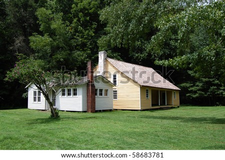 Smoky Mountains, Palmer House, Cataloochee valley - stock photo