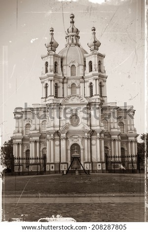 Smolny Cathedral, St. Petersburg  - stock photo