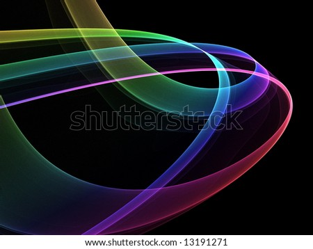 Smooth abstract lines in all colors - stock photo