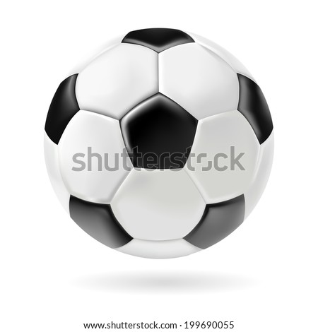 smooth and shiny soccer ball