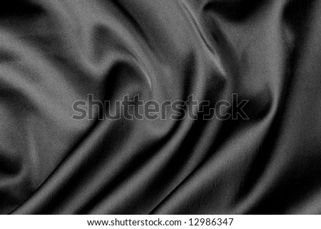 Smooth Black Satin - stock photo