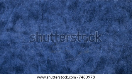 smooth blue leather - stock photo