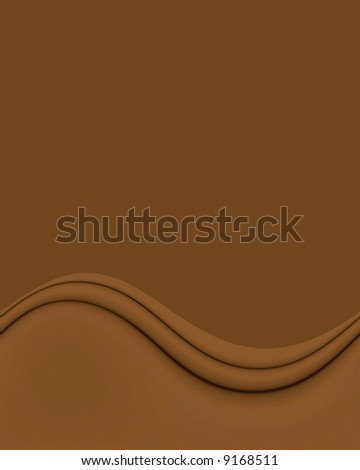 Smooth Chocolate Brown Wave