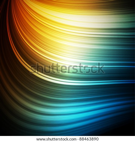 Smooth colorful abstract fantasy background - stock photo