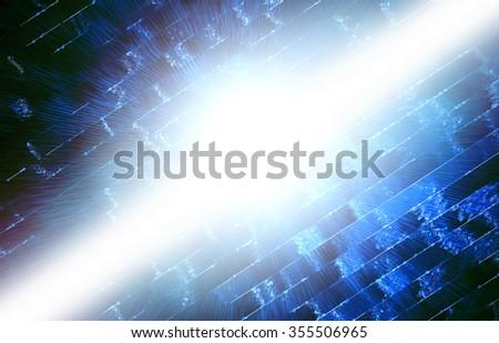 Smooth Dark blue Virtual technology background. Raster version. - stock photo