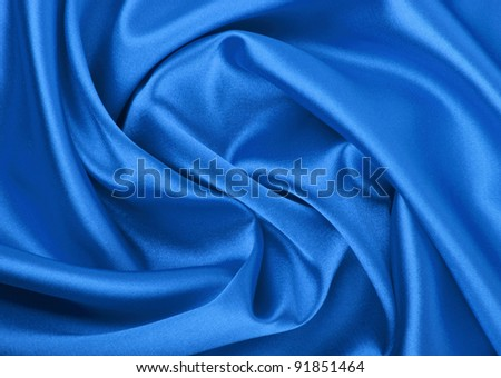 Smooth elegant blue silk background, can use as background - stock photo