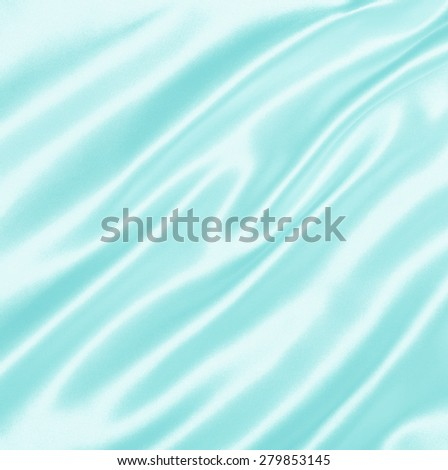 Smooth elegant blue silk or satin texture can use as background