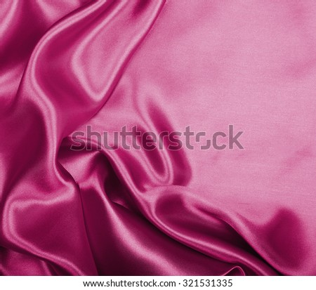 Smooth elegant burgundy silk or satin can use as background  - stock photo