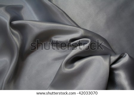 Smooth elegant grey silk can use as background