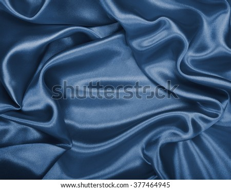 Smooth elegant grey silk or satin can use as background  - stock photo