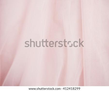 smooth elegant pink silk or satin - stock photo