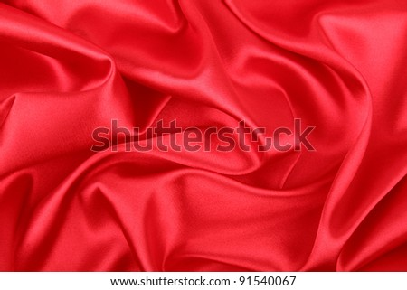 Smooth elegant red silk background, can use as background - stock photo