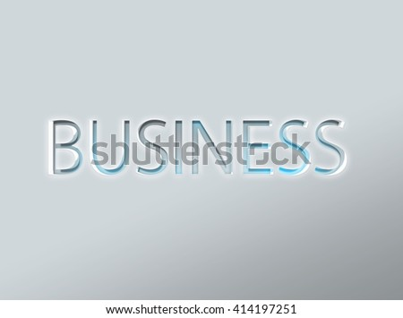 Smooth etched letters of the word business in metallic solid background for commerce concept - stock photo