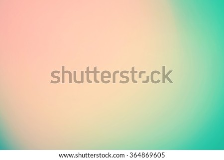 Smooth Gradient Background with beige, turquoise colors - stock photo