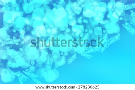 smooth gradient texture blue green white abstract background with beautiful glitter twinkling bokeh