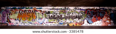 Smooth Graffiti Panoramic shot - stock photo