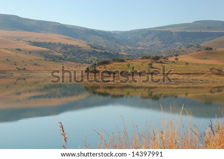 Smooth lake - stock photo