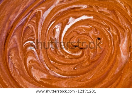 smooth melted creamy chocolate background - stock photo