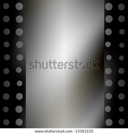 Smooth Metal Plate With Holes Border - stock photo
