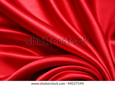 Smooth Red Silk can use as background - stock photo