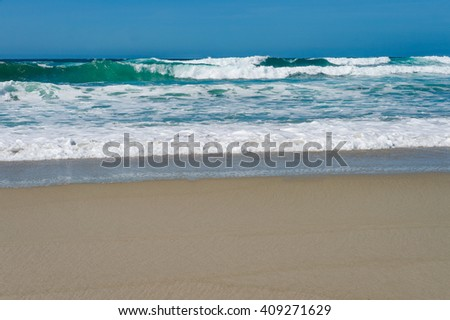 Smooth Sand on the Coast of Northern California - stock photo