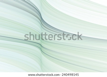 Smooth teal / blue flowing silk waves on white background  - stock photo