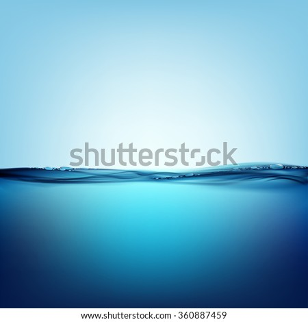 Smooth water surface. Natural background. Stock illustration. - stock photo