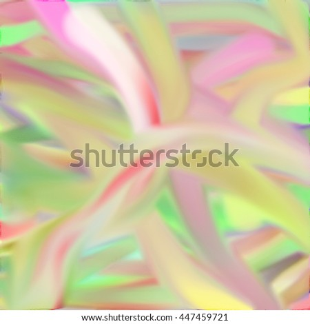 Smooth watercolor abstract in blurry pastel flow. - stock photo