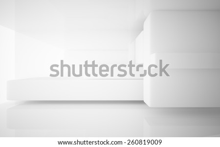 Smooth white interior - stock photo