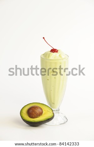 smoothie isolated on white - stock photo