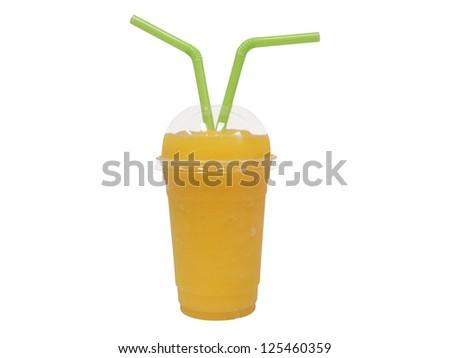 smoothie on white background - stock photo