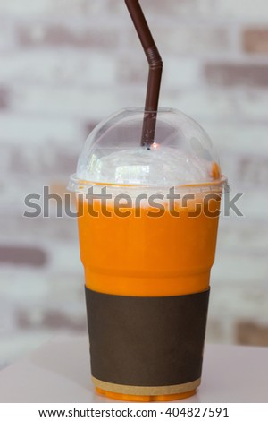 Smoothies and ice tea for served - stock photo