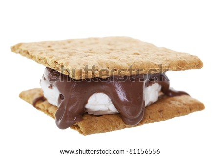 Smores:  graham wafer crackers with melted marshmallows and chocolate. This camping favorite is prepared over an open flame and makes a great treat.