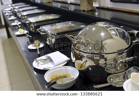 Smorgasbord - food choice in a restaurant - stock photo