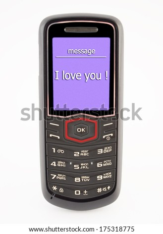 SMS message on your mobile phone