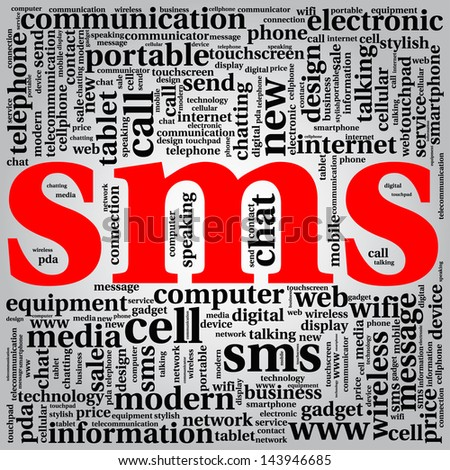 sms - word cloud background