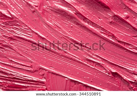 Smudged lipstick. a great background - stock photo