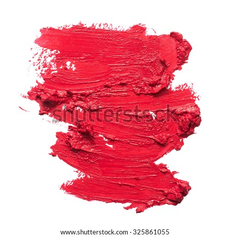 Smudged lipstick texture - stock photo